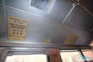 Restored Singapore Traction Company Bus - 1967 Nissan RX102K3 (STC609) - Old cabin signs