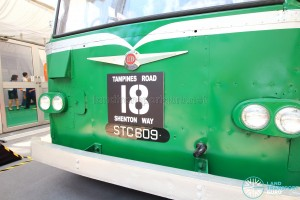 Restored Singapore Traction Company Bus - 1967 Nissan RX102K3 (STC609) - Service Number Plate and Registration Plate
