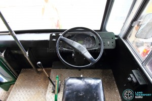 Restored Singapore Traction Company Bus - 1967 Nissan RX102K3 (STC609) - Dashboard, with gear stick and handbrake