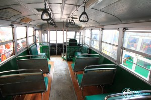 Restored Singapore Traction Company Bus - 1967 Nissan RX102K3 (STC609) - Interior with modern handgrips