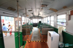 Restored Singapore Traction Company Bus - 1967 Nissan RX102K3 (STC609) - Interior, with air-conditioner