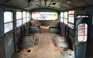 STC609 Restoration by Lexbuild - Bus interior in original condition