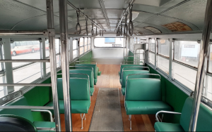 STC609 Restoration by Lexbuild - Completed bus interior