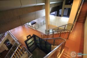 Bukit Panjang LRT Station - Stairs from Platform to Mezzanine level