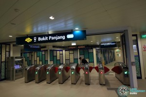 Bukit Panjang LRT Station - Exit C (to MRT Station and Hillion Mall)