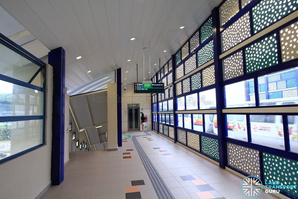 Bukit Panjang LRT Station - Corridor to Downtown Line