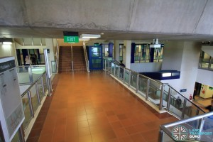 Bukit Panjang LRT Station - Mezzanine level, with stairs to Street level