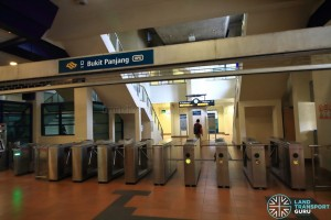 Bukit Panjang LRT Station - Exit A/B turnstiles