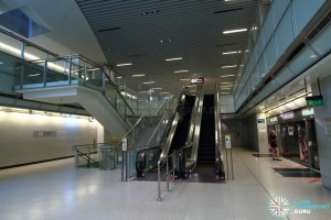 Promenade MRT Station - CCL Upper platform level escalators (B2)