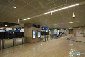 Stevens MRT Station - DTL Lower Concourse, Passenger Service Centre & Faregates (B5)