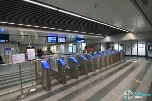 Newton MRT Station - DTL Faregates (B1)