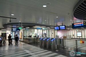 Newton MRT Station - DTL Passenger Service Centre & Faregates (B2)