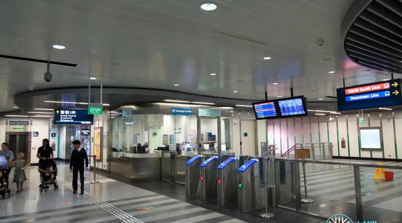 Newton MRT Station - DTL Passenger Service Centre & Faregates (B1)