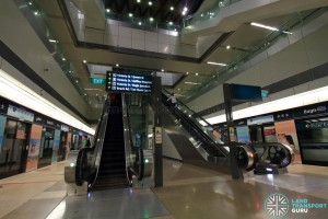 Bugis MRT Station - DTL escalators