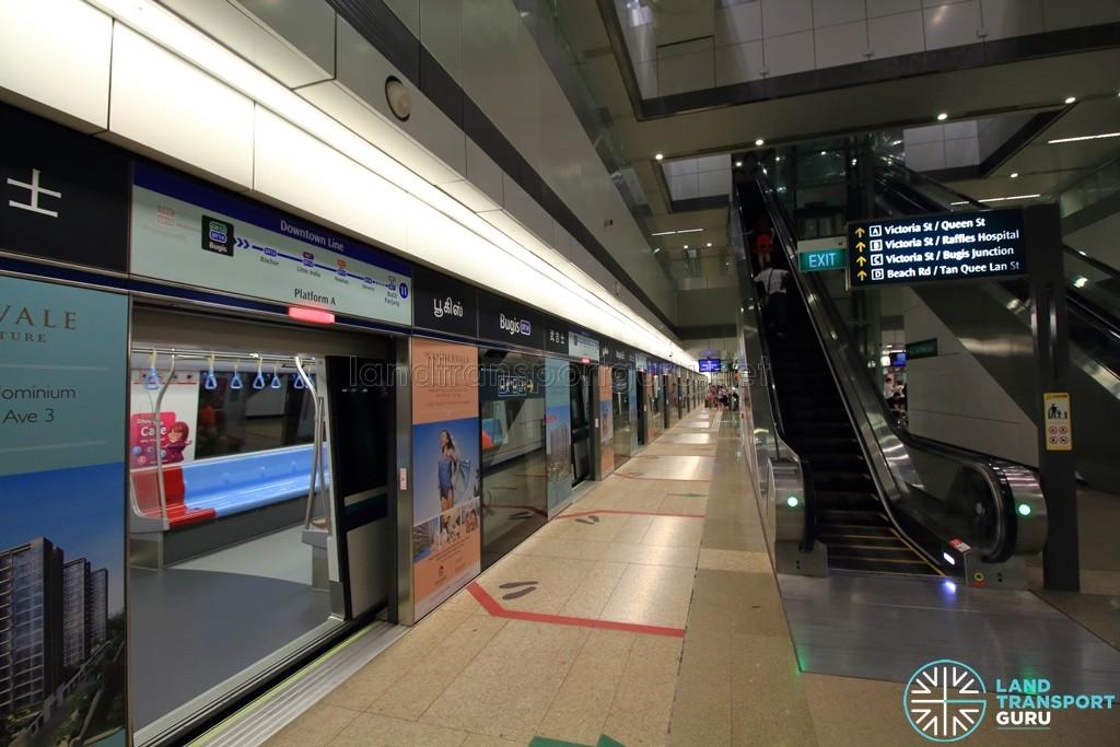 Bugis MRT Station - DTL Platform A