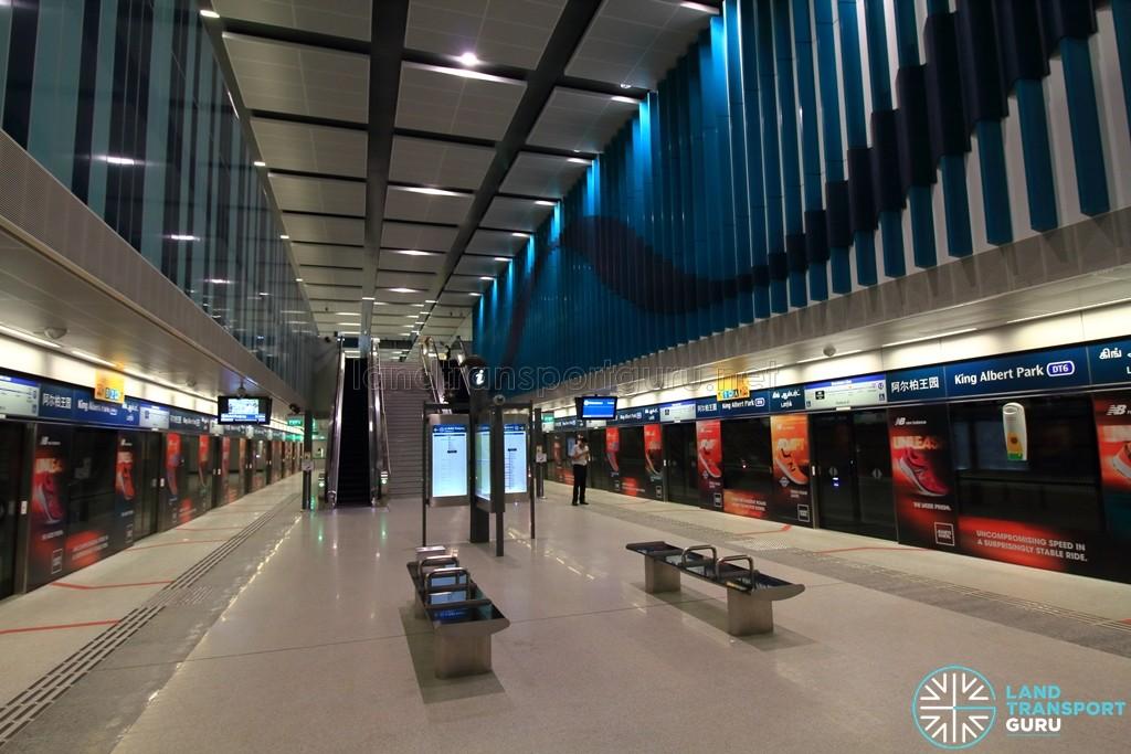 King Albert Park MRT Station - Platform level