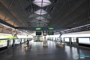 Expo MRT Station - Platform level