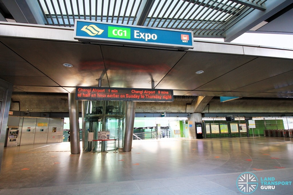 Expo MRT Station - Exit A