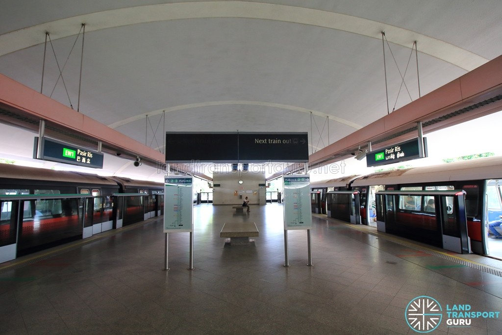 Pasir Ris MRT Station - Platform level