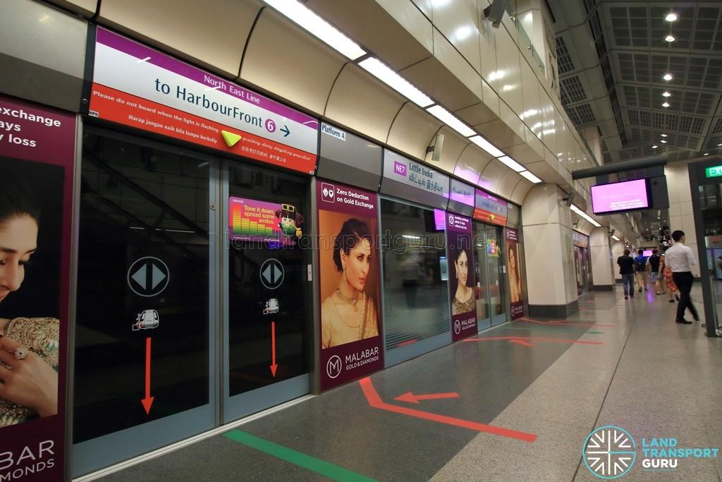 Little India MRT Station - NEL Platform A