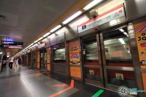Newton MRT Station - NSL Platform B
