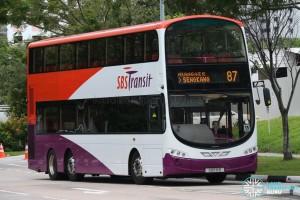 SBS Transit Volvo B9TL (SBS18B) - Service 87