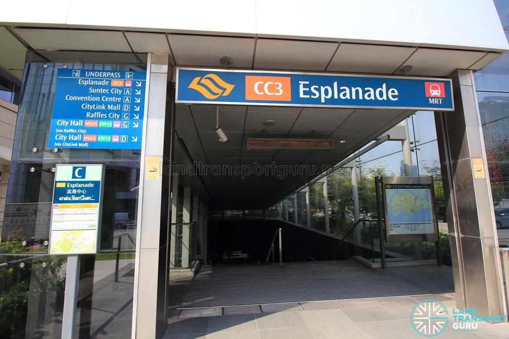 Esplanade MRT Station | Land Transport Guru