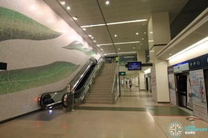 Downtown MRT Station - Platform level