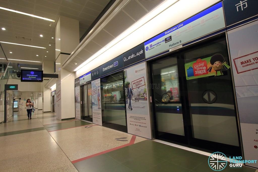 Downtown MRT Station - Platform B