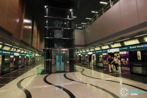 Beauty World MRT Station - Platform level