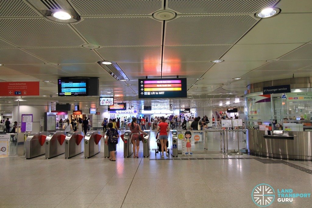 Dhoby Ghaut MRT Station - NEL Passenger Service Centre & Faregates