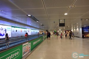 Dhoby Ghaut MRT Station - B2 Transfer Linkway, with travellators