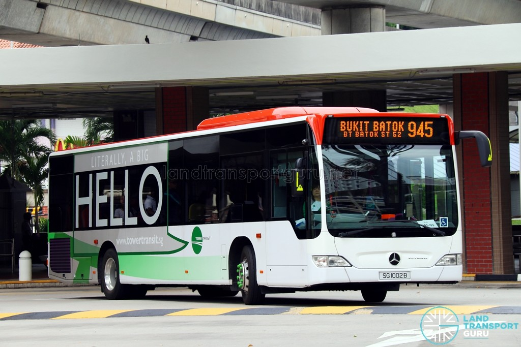 SG1002B on 945 - Tower Transit Mercedes-Benz Citaro