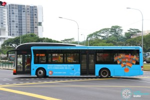 SMRT Buses MAN A22 (SMB1419E) - M1 4G+ Network WiFi Router Trial