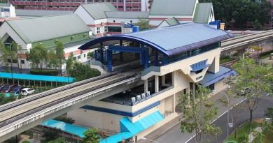 Fajar LRT Station - Overhead view