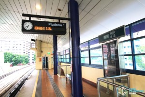 Fajar LRT Station - Platform 1