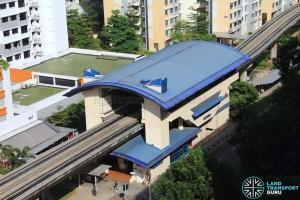 Segar LRT Station - Overhead view