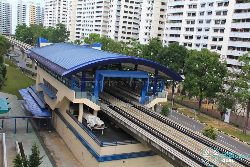 Jelapang LRT Station - Overhead view