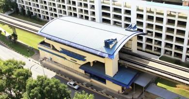 Jelapang LRT Station - Overhead view