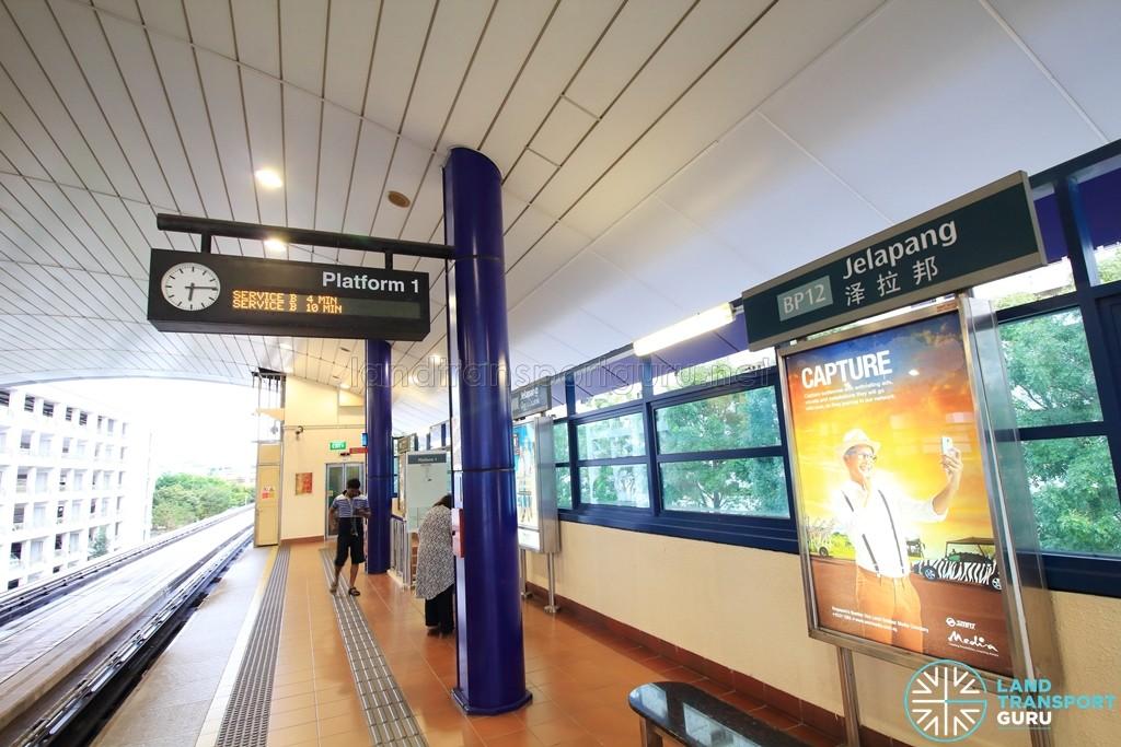 Jelapang LRT Station - Platform 1