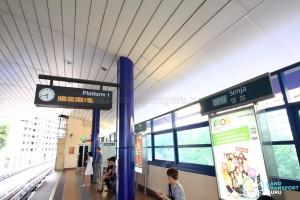 Senja LRT Station - Platform 1