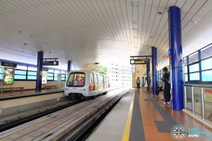 Senja LRT Station - Platform level