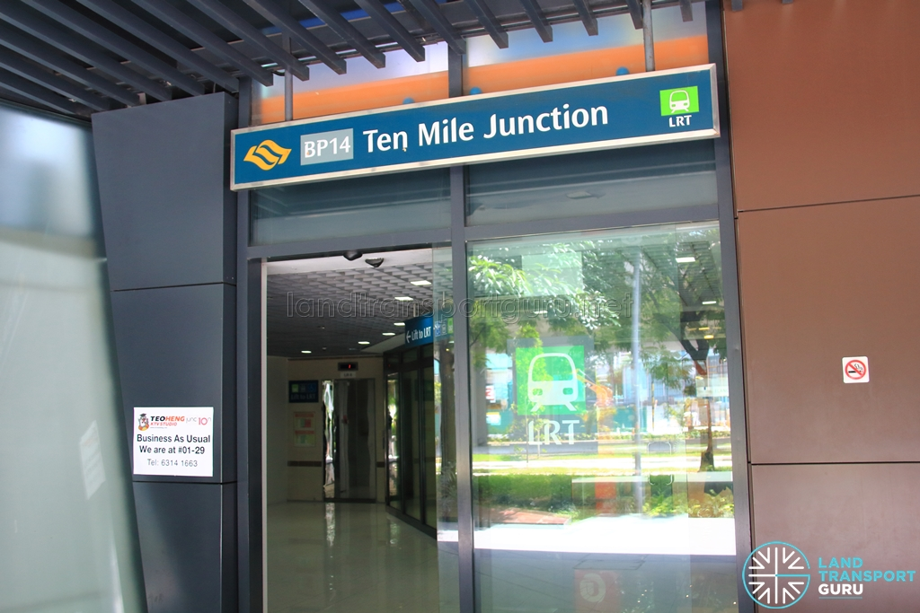 Ten Mile Junction LRT Station - Street level entrance