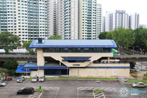 Keat Hong LRT Station - Overhead view