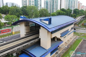 Keat Hong LRT Station - Overhead view