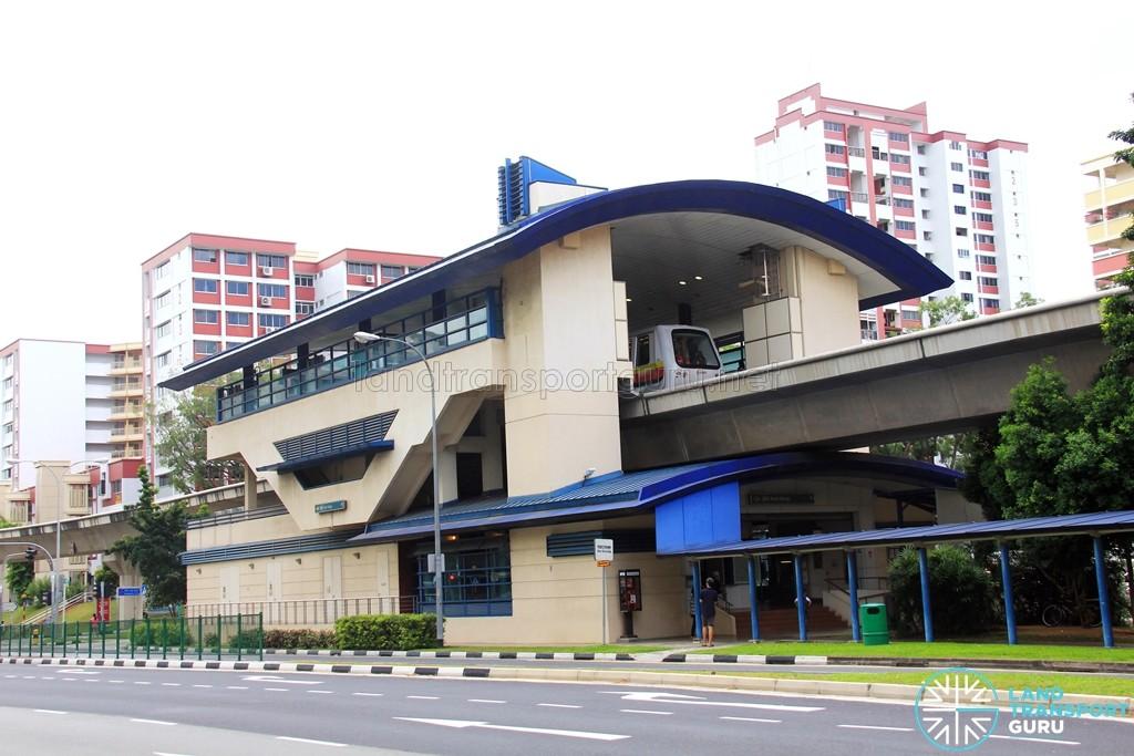 Keat Hong LRT Station - Exterior view