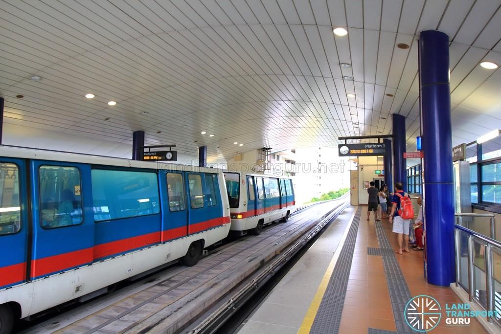 Keat Hong LRT Station - Platform level