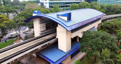 Teck Whye LRT Station - Overhead view