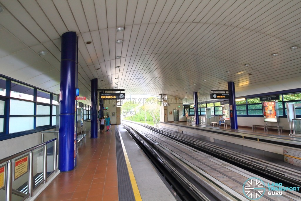 Teck Whye LRT Station - Platform level