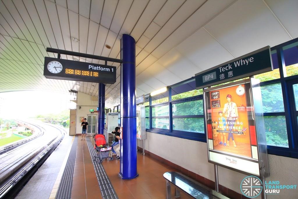 Teck Whye LRT Station - Platform 1